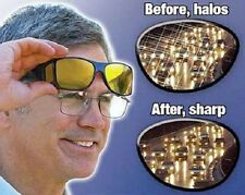 HD Night Vision Wraparound Sunglasses, As Seen on TV, Fits over Glasses - Black