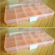 New 15-Slots Adjustable Jewelry Storage Box Case Craft Organizer Beads Organizer
