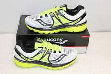 Saucony Men's Size 10M Triumph ISO 3 Running Shoes White/Black/Citron S20346