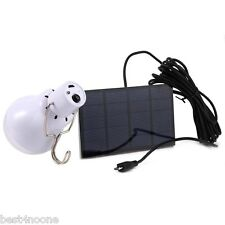 15W 5V Portable Solar Panel Power LED Bulb Lamp Outdoor Camp Tent Fishing Light