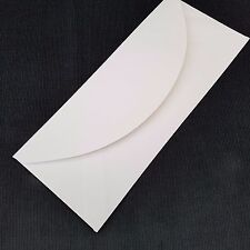 "10 x White Envelopes for Greeting Cards Craft Letter 203 x 84mm (8""x3.5"") 100gsm"