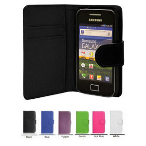 new WALLET Leather Case Phone Cover for Samsung Galaxy Ace GT-S5830/GT-S5830i UK