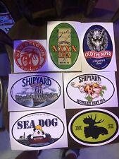 Lot of 7 BIG Beer/Brewery Stickers - New Belgium Brewing, Shipyard, Moosehead ++