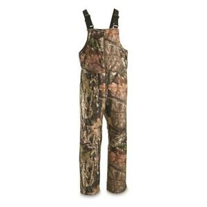 New Men's Water Resistant Insulated Camo Hunting Bibs Mossy Oak Realtree