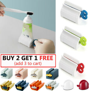 New Rolling Tube Toothpaste Squeezer Toothpaste Easy Dispenser Seat Holder Stand