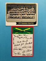 1974 Topps Team Card and Unmarked Checklist of Pittsburgh Pirates