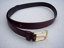 Jeans West Womens Medium Belt Sz 32 Reddish Brown Leather Goldentone Buckle