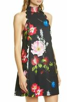 AUTH Ted Baker Tanii Floral Print Scalloped A-Line Dress,Ted Size 2,3,4,5