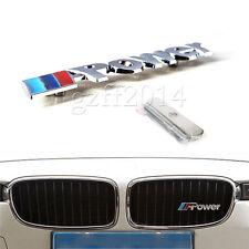 3D Front M Power Grill Emblem Logo Badge Fit for BMW X1 X2 X3 M1 M3 M5 M6