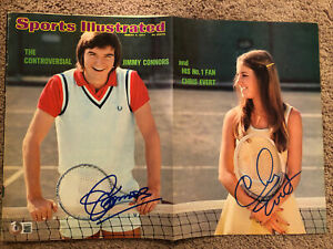 JIMMY CONNORS & CHRIS EVERT SPORTS ILLUSTRATED SIGNED AUTOGRAPHED BECKETT BAS