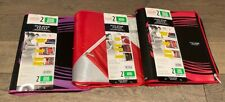 "Five Star Binder, 2"" 3 Ring Binder, Xpanz Zipper Binder 380 Sht Capacity. Qty 3"