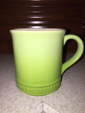 "Le Creuset Mugs 12oz 4"" Stoneware Straight Coffee Cup Green Or Lime Set Of 6"