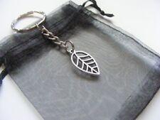 Leaf Keyring With Gift Bag - Nice Christmas / Birthday Present