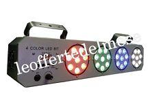 Lampada strobo effetto discoteca LED 4 lampade LED professionale DMX