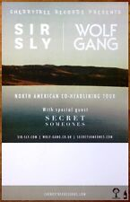 SIR SLY You Haunt Me 2014 Ltd Ed Tour Poster +FREE Indie Rock Poster! WOLF GANG
