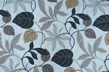 "SANDERSON CURTAIN FABRIC DESIGN ""Folia"" 3.2 METRES BLACK & NEUTRAL (320 CM)"