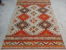 Persian Traditional Vintage Wool 5 X 8 Oriental Rug Handmade Carpet Rugs