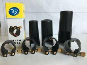 Leather Ligature Fastener For Alto Tenor Soprano Saxophone ebonite mouthpiece