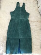 J Crew Suede Dress Green Sz 6 On of a Kind! Rare!