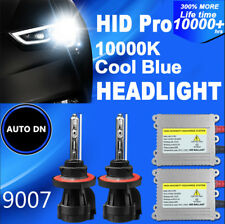 2x DSV HID headlight Kit 9007  Hi/Low Beams 10000K Replace Light Bulbs Bi-Xenon