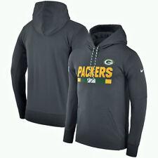 Nike Green Bay Packers Sweatshirt NFL GRIDIRON SIDELINES  LARGE  GRAY