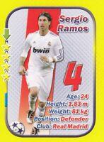 Football card SERGIO RAMOS Real Madrid Spain STARS edition 2010 soccer