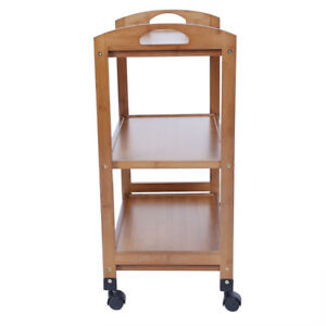 3-Tier Moveable Kitchen Trolley Rolling Storage Rack Organizer With Wheels Bl