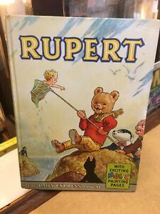 Vintage RUPERT BEAR ANNUAL 1963 with Magic Painting Pages Excellent Condition