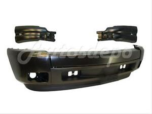 Bundle for 07-13 Silverado 1500 Front Bumper Blk With Cap End Valance W Hole 7Pc