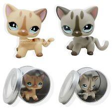 2pcs Littlest Pet Shop Short Hair Cat Kitty Toy LPS #886 #468