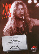 ROCK CLUB 1 1995 Metallica Italian fan club
