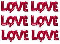 Set 6 Valentines Giorno Lamina Love Palloncini Rosso Rosa Gonfiabile Segni Di