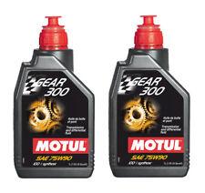 Motul Aceite Transmisión Engranaje 300 75W90 Coche Moto API GL-4/GL-5 2 Litros