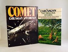 Carl Sagan-2 Books-SIGNED!!-TRUE First/1st Editions!!-Dragons Of Eden-Comet-RARE