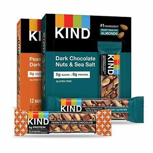 KIND Bars, Variety Pack, Gluten Free, 1.4 Oz, Two Packs of 12 Bars