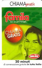 CHIAMAGRATIS - FAMILA - SELEX - NUOVA - VALIDITA' - 05/03/2003 AL 05/09/2003