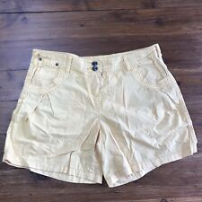 PROMOD Shorts Size 12 Shorts Yellow Cotton Summer Short Casual Summer