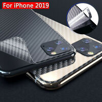2pcs For iPhone 11/11 Pro Max Carbon Fiber Back Cover Film Protector NEW
