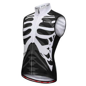 Reflective Safety Sleeveless Jersey Vest for Night Cycling Running Hiking