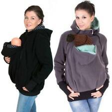 Kangaroo Unisex Sweatshirt Winter Pregnant Parent Child Hands Free Hoodies Sweat
