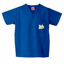 UCLA Bruins V-Neck Scrub Top SCRUBS DUDZ Blue & Yellow Poly/Cotton Blend SMALL