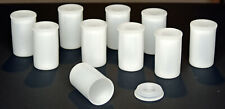 New listing 10pc. Lots: Translucent Plastic 35mm Film Canisters Crafts Stash Film Coins etc.