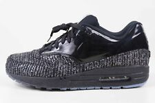 Nike Womens Air Max 1 VT QS Black Metallic Silver 615868 002 Size 9.5