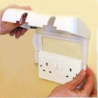 Clippasafe Double Socket Protector Electric Plug Cover Baby Child Safety Box,
