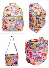 2020 Disney Store Princess Backpack Lunch Tote Box School Bag Set