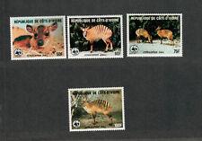 Ivory Coast Sc#764-767 M/NH/VF, Complete Set, WWF Animals, Cv. $61.50