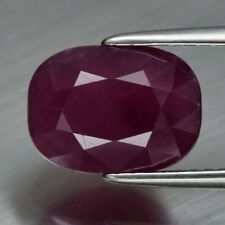 4.07ct 10x7.3mm Cushion Natural Unheated Red Ruby, Guinea