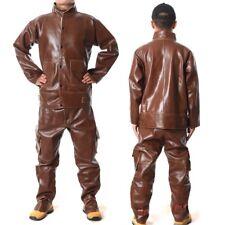 Heavy Split Leather Welding Apparel Suit Welders Jacket Trousers Protect Cloth