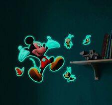 Leuchtender 3D Wandschmuck Glow in the Dark Mickey Mouse Wandtattoo
