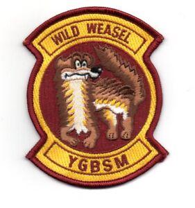 USAF Wild Weasel YGBSM patch F-100 F-105 F-4 F-16 SAM HARM ECM EWO Radar Vietnam